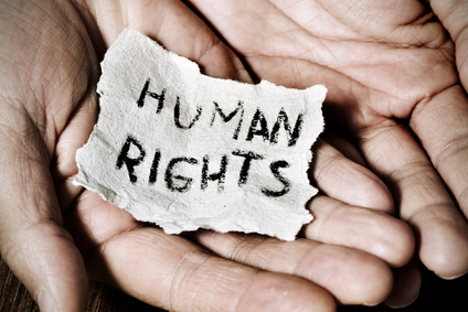 young man with a paper with the text human rights © nito / Fotolia.com