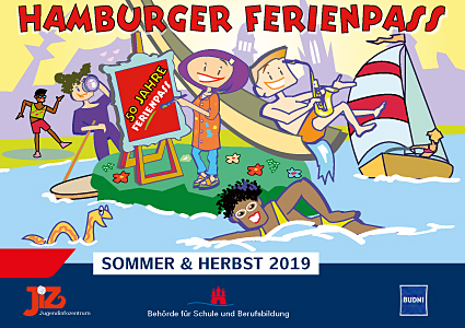 Titelbild des Ferienpass 2019 © Jugendinformationszentrum Hamburg